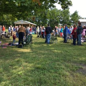 Outdoor Worship and Sunday School picnic